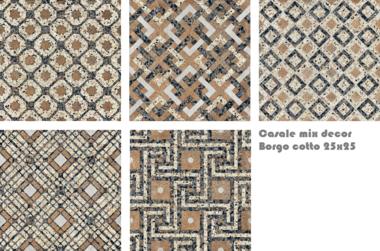 Terrazzo Borgo Cotto Mix   25x25 cm