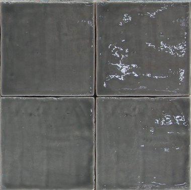 Oud Hollandse Witjes Donker grijs  13x13 cm