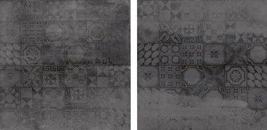 Concrete Antraciet Decor   60x60 cm meerkleurig