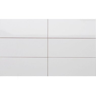 Wandtegel glans wit 20x50 cm