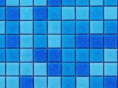 Glas Mozaik blauw mix voor vloer en wand
