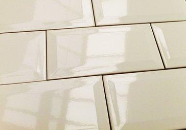 Metro wandtegel beige glans 15x7,5 cm