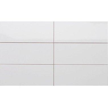 Wandtegel glans wit 30x60 cm Aanbieding
